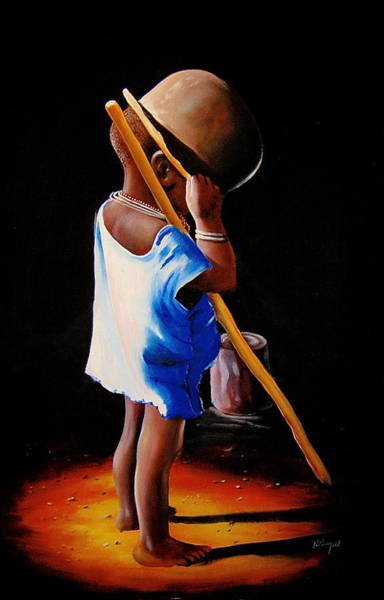 Painting - Last Of The Stew by Chagwi