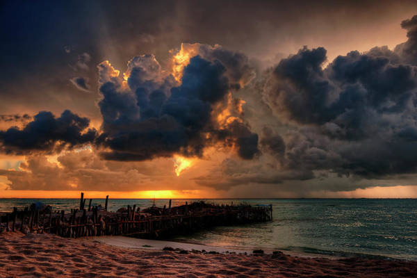 Quintana Roo Photograph - Last Rays Of Light On Isla Mujeres by Riccardo Mantero