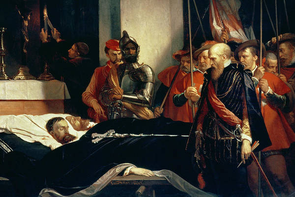 Crucifix Photograph - Last Respects To The Remains Of Counts Egmont And Hoorn, 1863 Oil On Canvas See 200931 by Louis Gallait