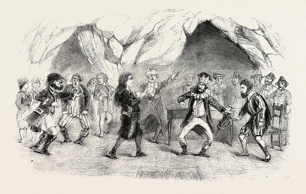 Wall Art - Drawing - Last Scene Of The Enchanted Isle At Drury Lane Theatre by English School