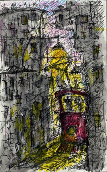 Drawing - Last Stop by Maxim Komissarchik