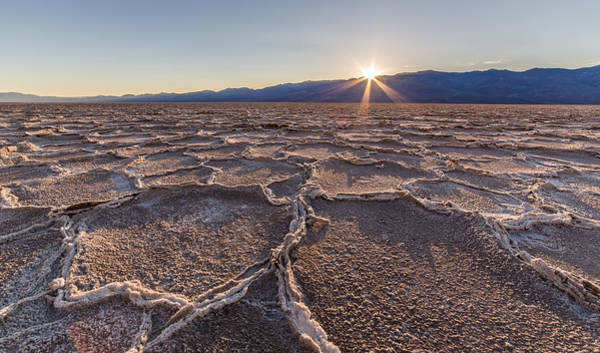 Photograph - Last Sun Burst At Badwater Death Valley by Pierre Leclerc Photography