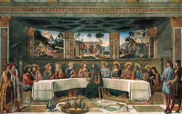 Apostolic Palace Wall Art - Painting - Last Supper by Cosimo Rosseli