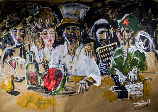 Painting - Last Supper by Maxim Komissarchik