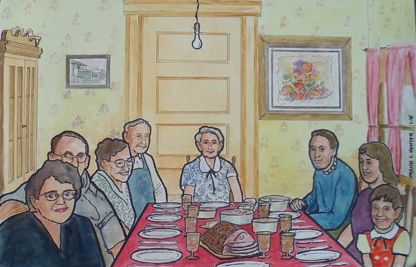 Painting - Last Supper Together 1957 by Frank Hunter