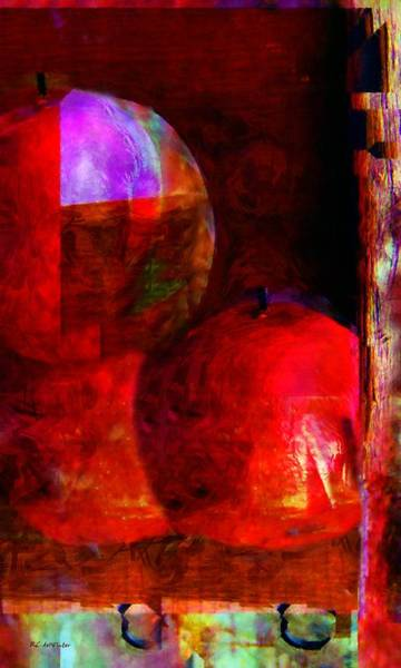 Painting - Last Winter's Apples by RC DeWinter
