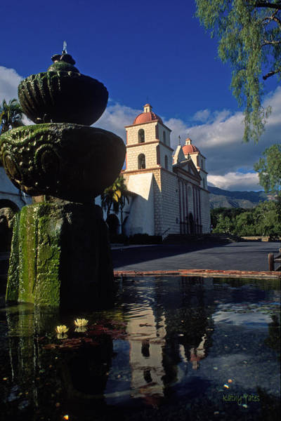 Mission Santa Barbara Photograph - Late Afternoon At The Santa Barbara Mission by Kathy Yates