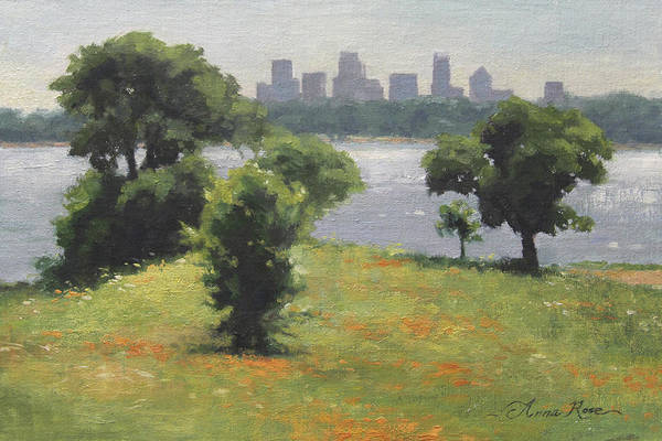 Fine Painting - Late Afternoon At Winfrey Point by Anna Rose Bain