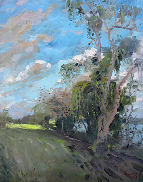 Niagara Painting - Late Afternoon By Niagara River by Ylli Haruni