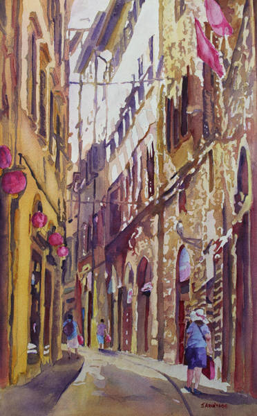 Late Afternoon Wall Art - Painting - Late Afternoon In Florence by Jenny Armitage