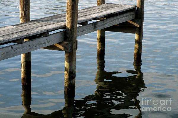 Photograph - Late Afternoon Light On The Water Under A Dock At Saint Michaels Maryland by William Kuta