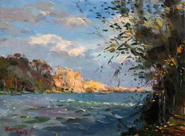 Goat Painting - Late Afternoon On Goat Island by Ylli Haruni