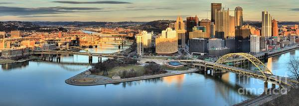 Photograph - Late Afternoon Reflections Of Pittsburgh by Adam Jewell