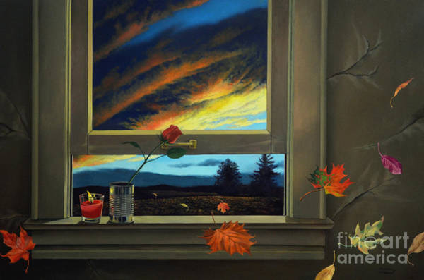 Painting - Late Autumn Breeze By Christopher Shellhammer by Christopher Shellhammer