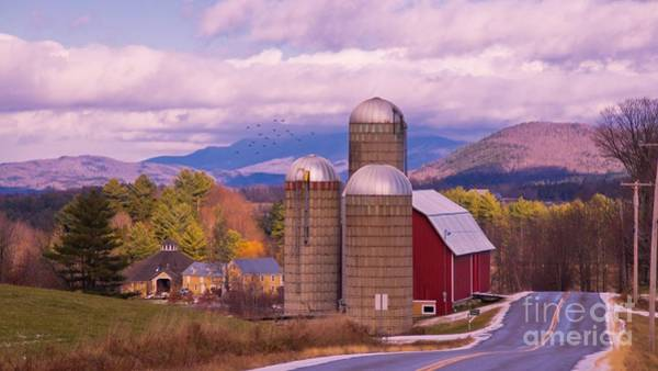 Waitsfield Photograph - Late Autumn Dusting Of Snow. by New England Photography
