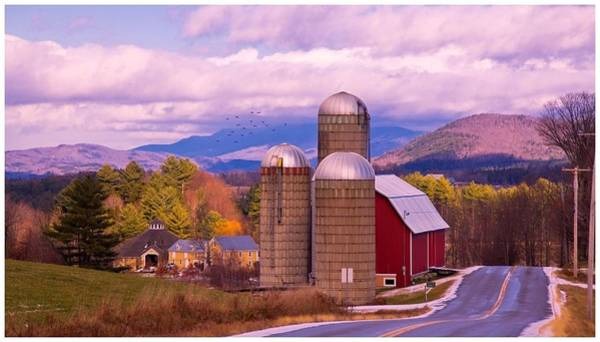 Waitsfield Photograph - Late Autumn Dusting Of Snow. by Stan Amster