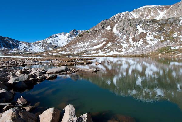 Photograph - Late Autumn Mountain Reflection by Cascade Colors