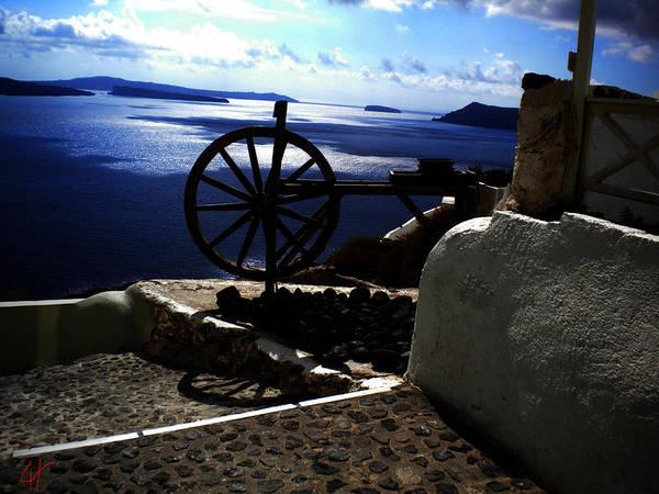 Photograph - Late Day On Santorini Island Greece by Colette V Hera  Guggenheim