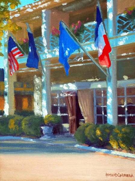 The Restaurant Painting - Late Day Shadows by Armand Cabrera