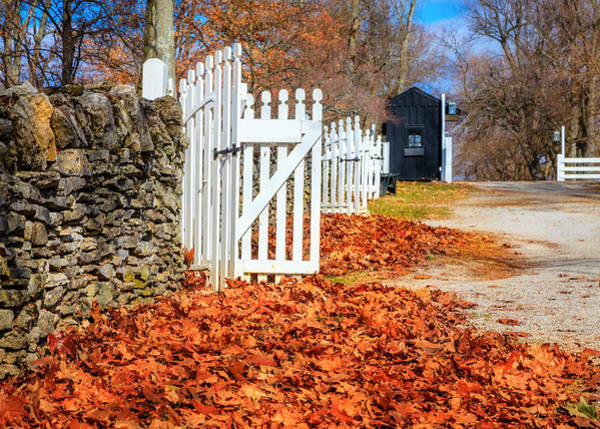 Village Gate Photograph - Late Fall In Kentucky by Alexey Stiop