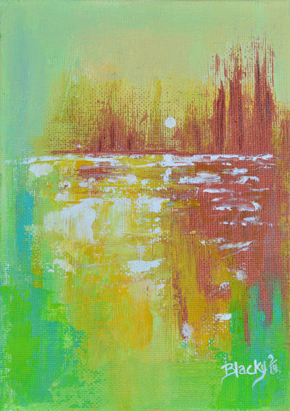 Wall Art - Painting - Late In The Day by Donna Blackhall