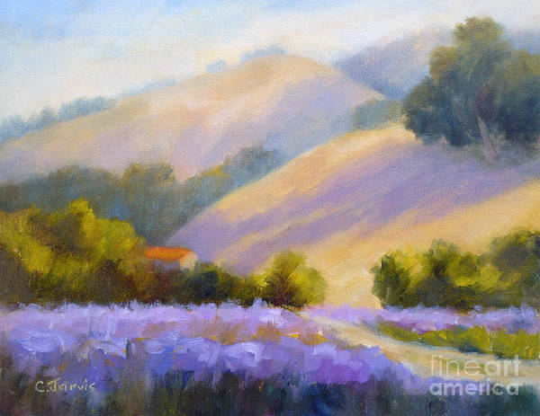 Painting - Late June Hills And Lavender by Carolyn Jarvis