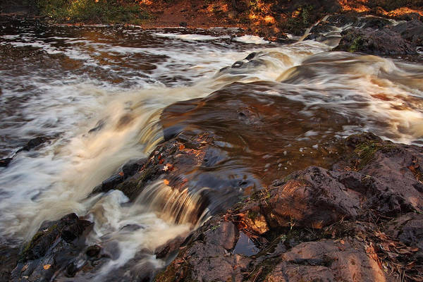 Photograph - Late Light At Copper Falls by Theo OConnor