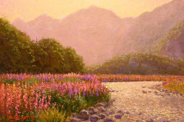 Nz.impressionist Painting - Late Light Egglinton Valley by Terry Perham
