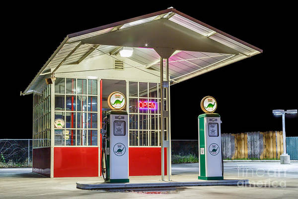 Photograph - Late Night Gas Station by James Eddy