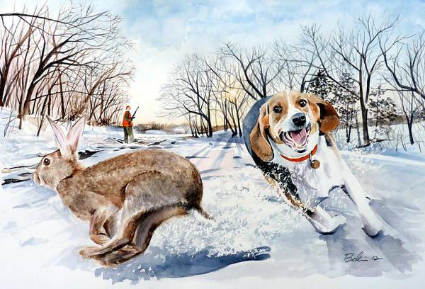 Pa Wall Art - Painting - Late Season Rabbit 2 by Dana Bellis