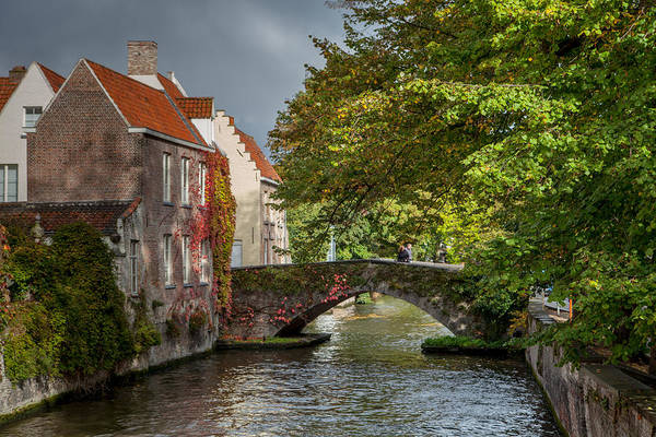 Medieval Town Photograph - Late Summer Storm In Bruges by W Chris Fooshee