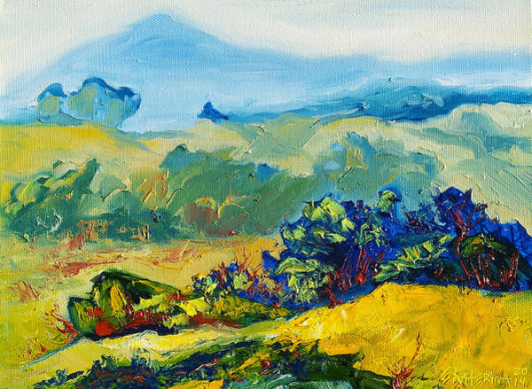 Painting - Late Summmer Landscape by Ekaterina Chernova