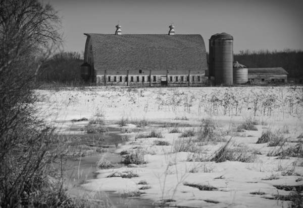 Photograph - Late Winter At A Wisconsin Farm by Thomas Young