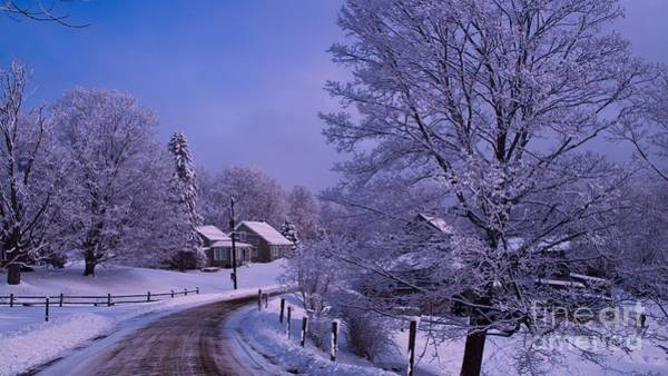 Waitsfield Photograph - Late Winter Dusting. by New England Photography