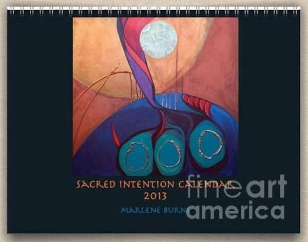Painting - Latest Calendar Judaica by Marlene Burns