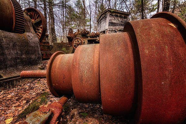 Photograph - Lathe. Redstone Quarry Conway Nh by Jeff Sinon