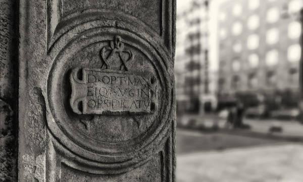 Photograph - Latin Inscription by Roberto Pagani