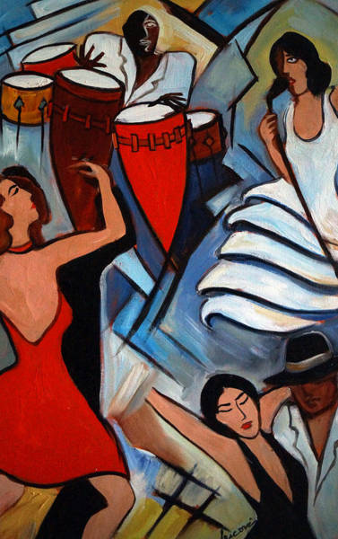 Conga Drum Painting - Hot Salsa by Valerie Vescovi
