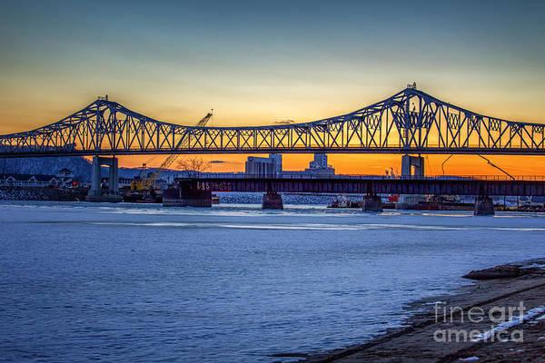Photograph - Latsch Sunset Bridge Spring by Kari Yearous