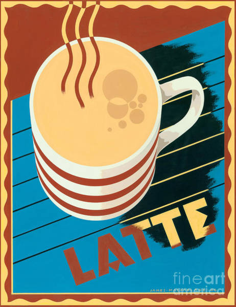 Warmth Digital Art - Latte by MGL Meiklejohn Graphics Licensing