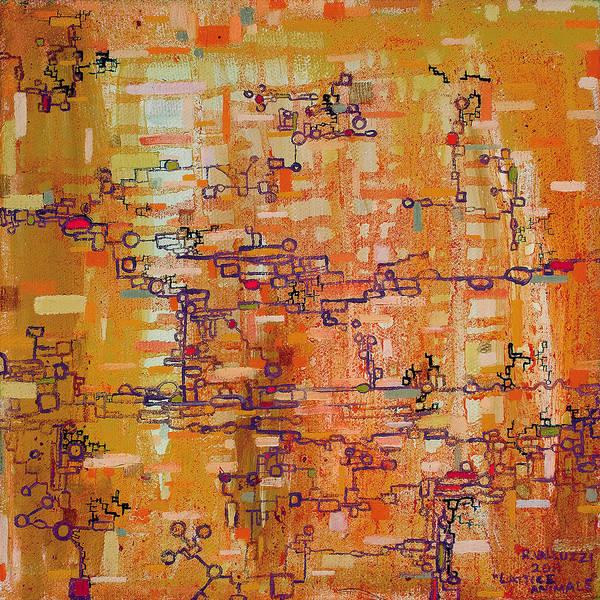 Painting - Lattice Animals Abstract Oil Painting By Regina Valluzzi by Regina Valluzzi
