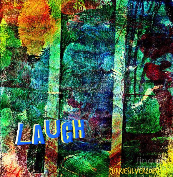 Wall Art - Digital Art - Laugh by Currie Silver