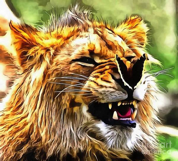 Painting - Laughing Lion by Catherine Lott