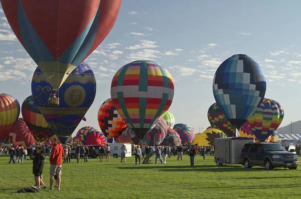 Fiesta Photograph - Launch At  The Albuquerque Hot Air by William Sutton
