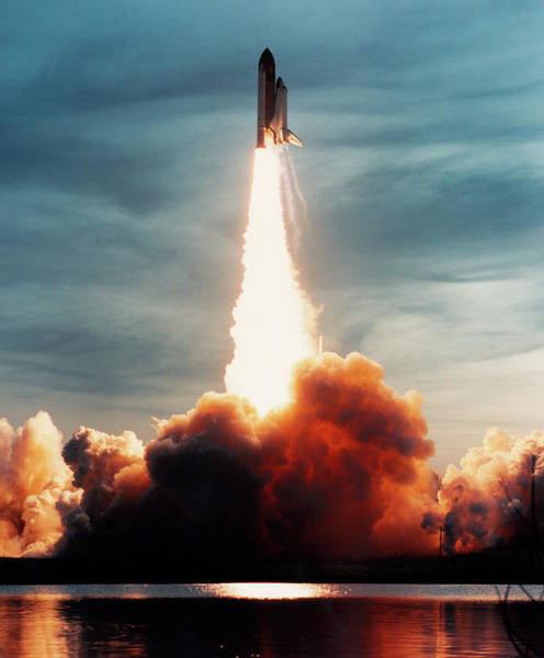 Space Shuttle Photograph - Launch Of Discovery by Nasa/science Photo Library