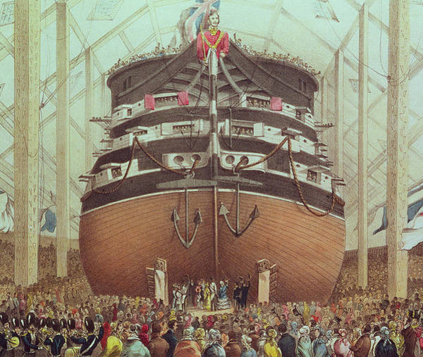 Vessel Painting - Launch Of Hms Royal Albert by English School