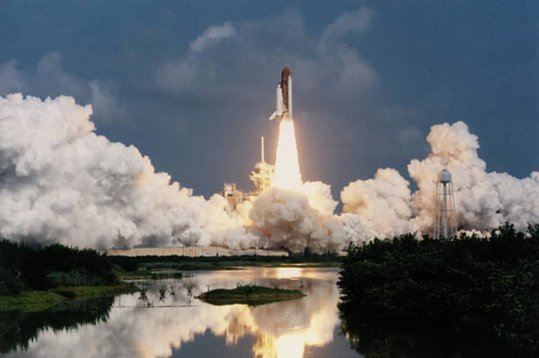 Space Shuttle Photograph - Launch Of Shuttle Atlantis by Nasa/science Photo Library