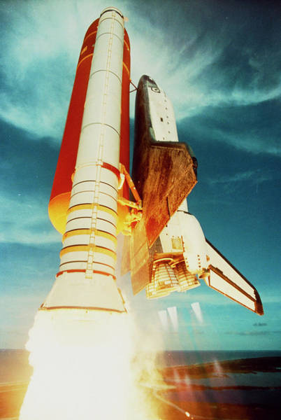 Challenger Photograph - Launch Of Shuttle Challenger During Mission 51-f by Nasa/science Photo Library