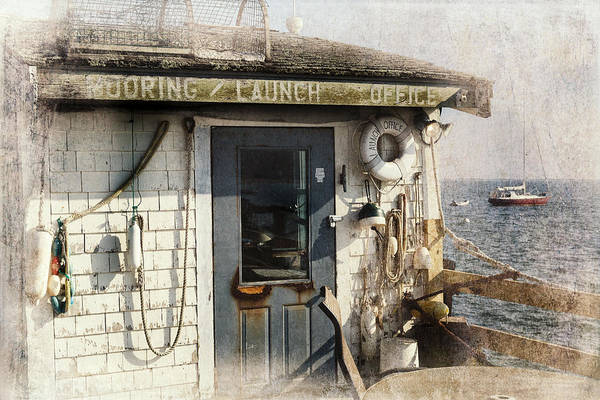 Photograph - Launch Office Mcmillian Wharf Provincetown by Bill Wakeley