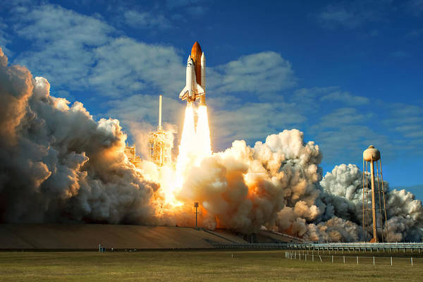 Space Shuttle Photograph - Launch by Ricky Barnard